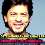 SRK Becomes only Second Indian to Receive Honorary Doctarate from ..