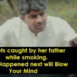 This Girl Was Caught By Her Father While Smoking And ..
