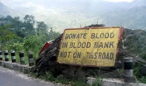 12 - 20 Sarcastic Sign-Boards From Leh-Manali Highway.!!