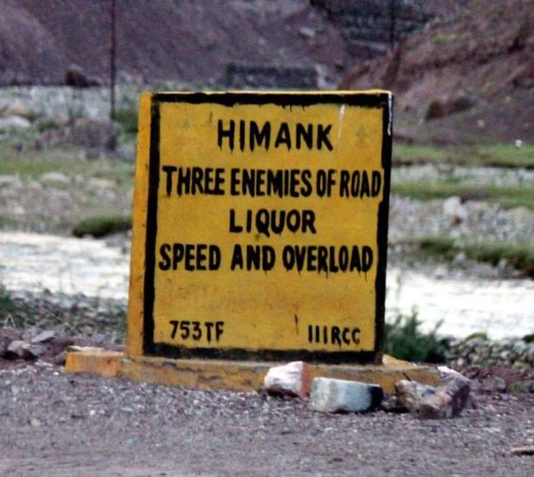 17 - 20 Sarcastic Sign-Boards From Leh-Manali Highway.!!