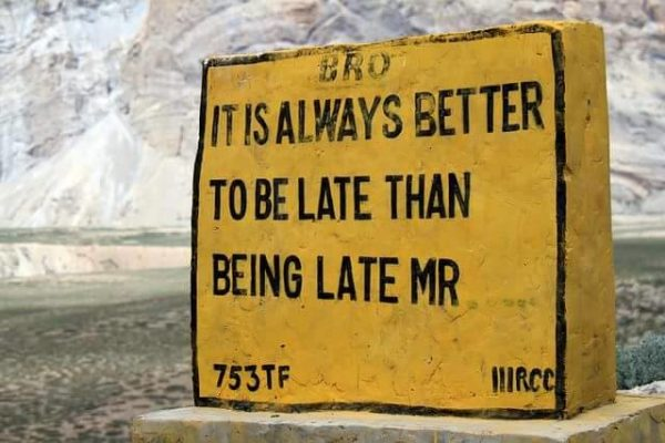 19 - 20 Sarcastic Sign-Boards From Leh-Manali Highway.!!