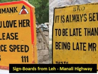 cover - 20 Sarcastic Sign-Boards From Leh-Manali Highway.!!