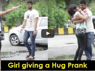 cover - Girl Played A Hug Prank On Strangers, What Happened At The End Is EPIC.!!
