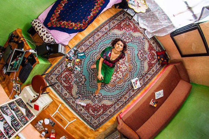 17 - 21 Aerial Pictures Of People's Bedrooms Perfectly Capture The Essence Of Their Life.!!