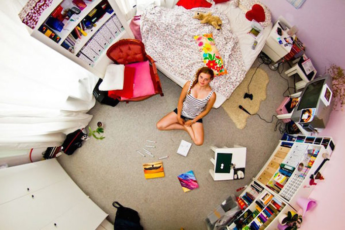 20 - 21 Aerial Pictures Of People's Bedrooms Perfectly Capture The Essence Of Their Life.!!