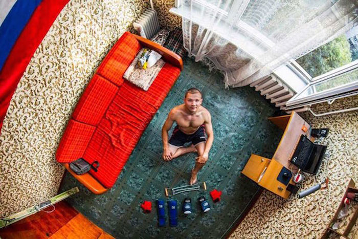 6 - 21 Aerial Pictures Of People's Bedrooms Perfectly Capture The Essence Of Their Life.!!