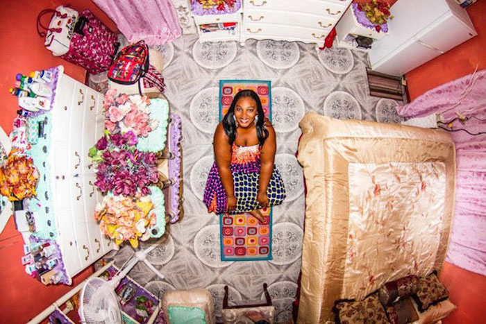 8 - 21 Aerial Pictures Of People's Bedrooms Perfectly Capture The Essence Of Their Life.!!