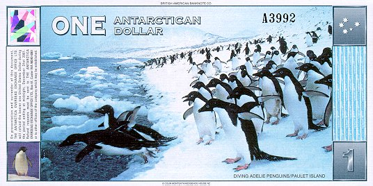 Antartica - 26 Beautiful Currency Notes From All Around The World.!!