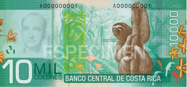 Costa Rica - 26 Beautiful Currency Notes From All Around The World.!!