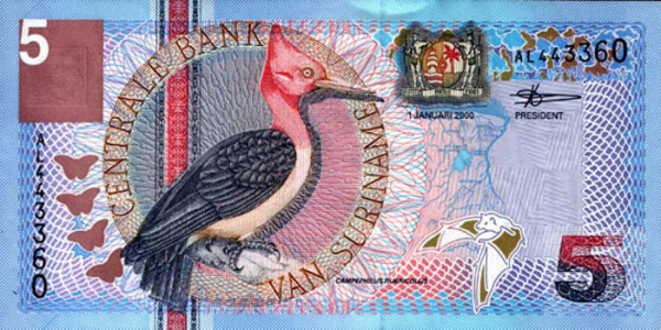 Surinam - 26 Beautiful Currency Notes From All Around The World.!!
