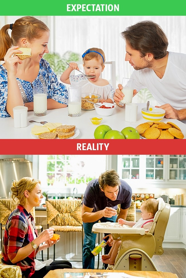 4 - These Pics Perfectly Explains Family Life Expectation Vs Reality.!!