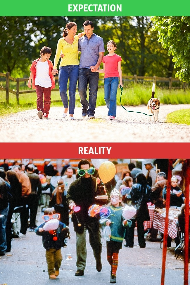 5 - These Pics Perfectly Explains Family Life Expectation Vs Reality.!!